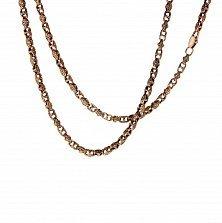 Золотая цепь Маркиз с чернением в стиле Барака