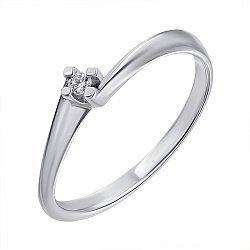 Серебряное кольцо с бриллиантом 000072539