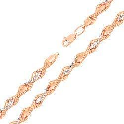 Золотой браслет Темперо комбинированного цвета в ролексовом плетении