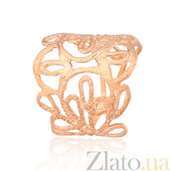 Серебряное кольцо с позолотой Ажурное волшебство 000028223