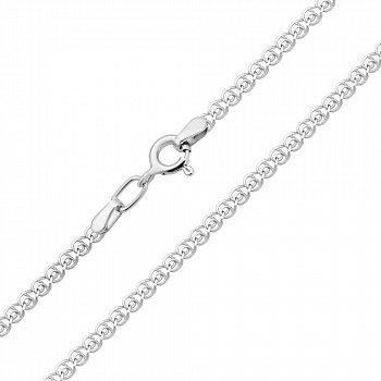 Срібний ланцюжок в плетінні лав, 2 мм 000118233