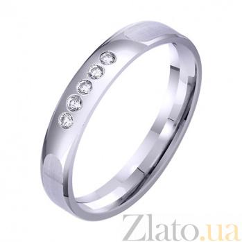 Золотое классическое обручальное кольцо Парение с фианитами TRF--4221329