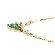 Колье из желтого золота с изумрудами и бриллиантами Жизель