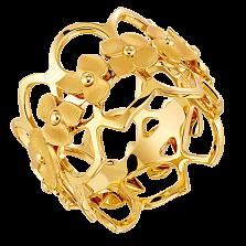Кольцо в лимонном золоте Hortensia