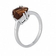 Серебряное кольцо с коньячным фианитом Альфинур