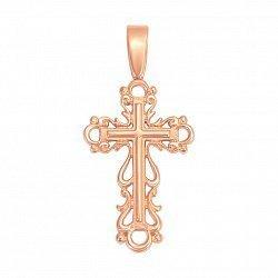 Крестик в красном золоте Красота вокруг нас