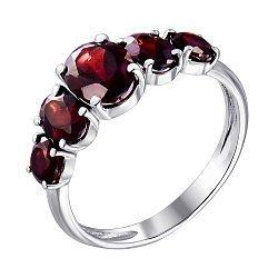 Серебряное кольцо с гранатом 000063443