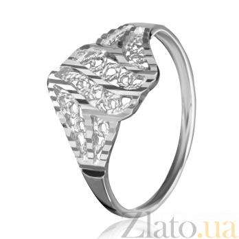 Серебряное кольцо Кружева 000025844