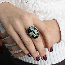 Серебряное кольцо с имитацией опала Импрессионизм