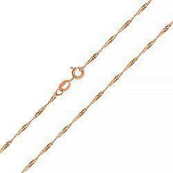 Серебряная цепь с позолотой, 3 мм 000047393