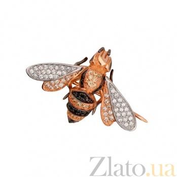 Брошь Пчелка из красного золота VLT--ТТ411