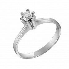 Кольцо из белого золота Страна любви с бриллиантом
