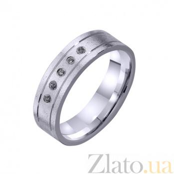 Золотое обручальное кольцо Любовь в Париже с фианитами TRF--4221115