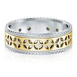 Обручальное кольцо Калейдоскоп Любви: Карусель мечты из желтого и белого золота с бриллиантами