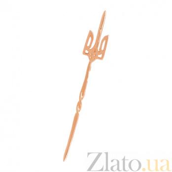 Значок из красного золота Трезубец VLN--314-1641