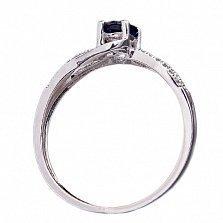 Золотое кольцо с сапфиром и бриллиантами Дженифер