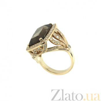 Золотое кольцо с бриллиантами и раухтопазом Madhu ZMX--RDRt-00217y