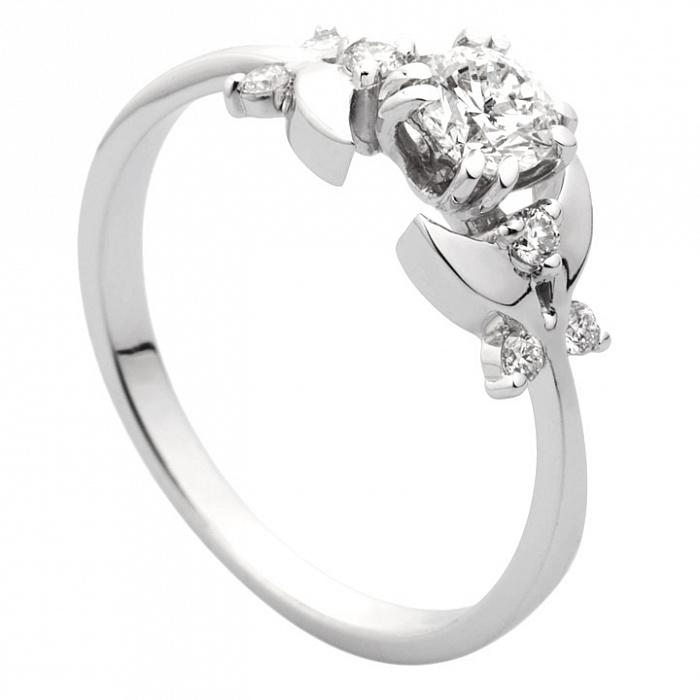 Золотое кольцо Сирена с бриллиантами и бабочками на шинке 000030498