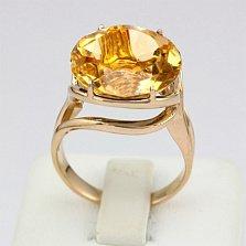 Золотое кольцо Румия с цитрином