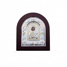 Серебряная икона Владимирская с позолотой