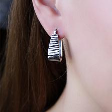 Серебряные серьги Маритана