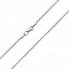 Серебряная цепочка Фая в плетении ролло с насечкой, 2 мм
