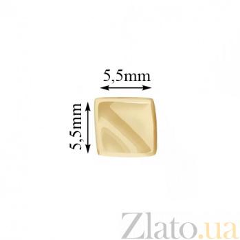 Серьги-пуссеты из желтого золота Файруз 000023438
