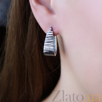 Серебряные серьги Маритана 000006735