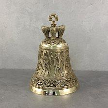 Бронзовый колокольчик Святое имя с навершием в виде крыльев и креста