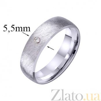 Золотое обручальное кольцо Восхищение с фианитом TRF--422267