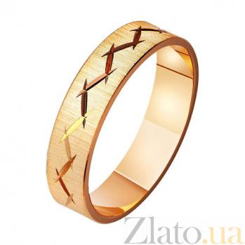 Золотое обручальное кольцо Стильная свадьба TRF--411036