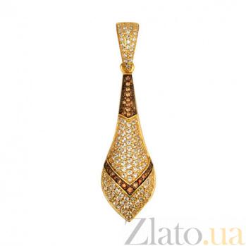 Подвеска из желтого золота Агата с фианитами VLT--ТТ3383-1