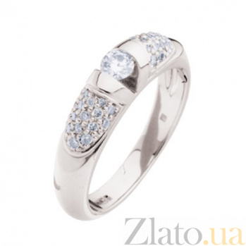 Золотое кольцо с бриллиантами Наринэ KBL--К1674/бел/брил