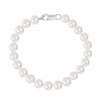 Браслет зі срібла і перлів, d 8мм 000148102