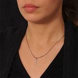 Золотой крестик Симфония с бриллиантами