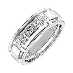 Обручальное кольцо из белого золота с бриллиантами 000103682