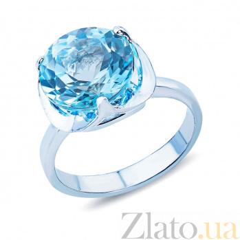 Серебряное кольцо с голубым топазом Одиссея AQA--R01655T