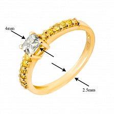 Кольцо в желтом золоте Erika с бриллиантами