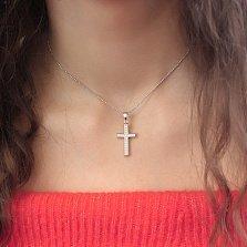 Серебряный крестик Милослава с фианитами