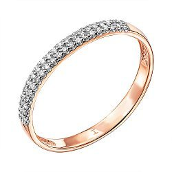 Золотое кольцо в комбинированном цвете с бриллиантами 000137741
