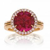 Кольцо Argile-Z с бриллиантами и рубином
