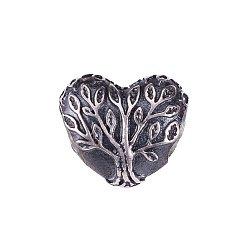 Серебряная подвеска-шарм в форме сердца с чернением 000071299