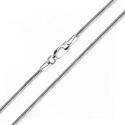 Золотая цепочка в белом цвете плетения снейк, 1,5 мм 000117326