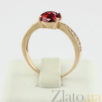 Золотое кольцо с гранатом и фианитами Беатриса VLN--112-778-3
