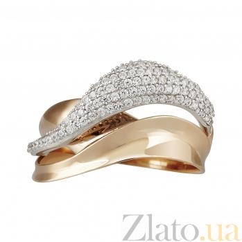 Золотое кольцо с фианитами Алисия 000023455