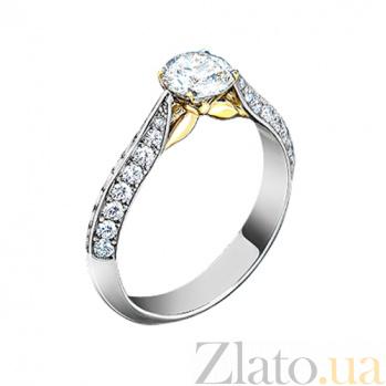 Золотое кольцо с бриллиантами и аквамарином Грани неизвестного 30168st
