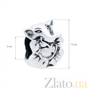 Серебряная бусина Слоник AQA-1B5530025/5
