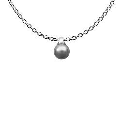 Минималистичное ожерелье Ночное небо с серой жемчужиной