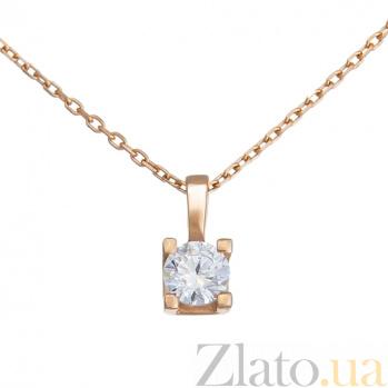 Золотое колье Королева грез SVA--7101981101/Фианит/Цирконий