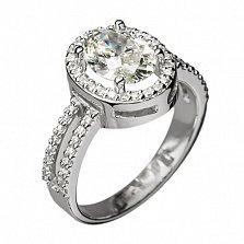 Кольцо из белого золота с бриллиантами Леонтайн